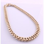 Large gold curb Chain